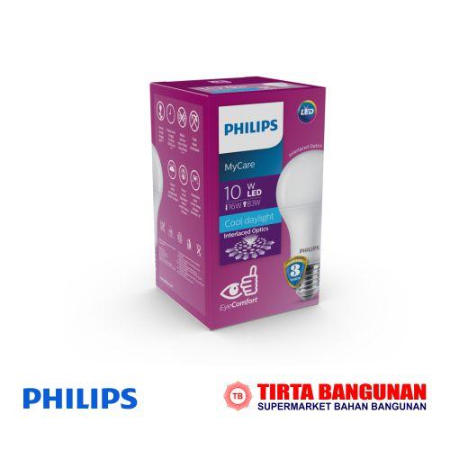 Philips Mycare LEDBulb 10W E27 3000K 230V Putih