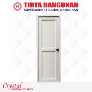 Pintu Crystal (Uk Standard) Full Panel Putih
