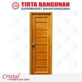 Pintu Crystal (Uk Standard) Elegant Coklat