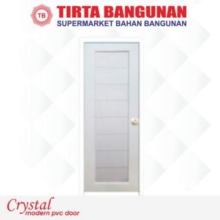 Pintu Crystal (Uk Standard) Elegant Putih