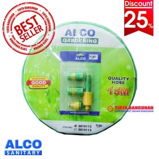 Alco Elastic Hose + Hose Nozzle Set (15m)
