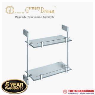Germany Brilliant Double Glass Shelf GB1899TTN