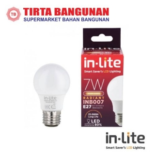 IN-Lite INB009 LEDBulb 7 Watt Putih