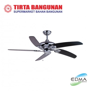 "Mt.Edma Ceiling Fan 52"" Modena Chrome/Black"
