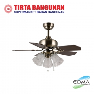 "Mt.Edma Ceiling Fan 30"" Miramar AB Walnut/Rosewood"