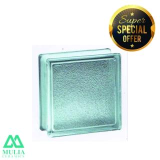 Mulia Glass Block 20x20cm TANGERINE 95066