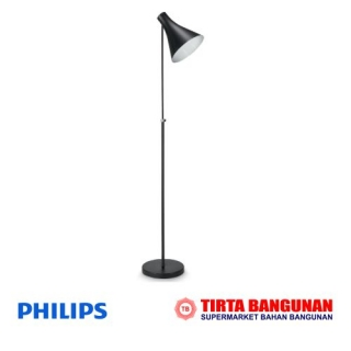 Philips Drin Floor Lamp 1X24W 230V Hitam