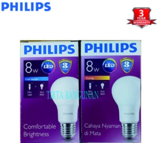Philips LED Bulb 8 Watt E27