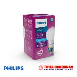 Philips Mycare LEDbulb 4W E27 6500K  Putih