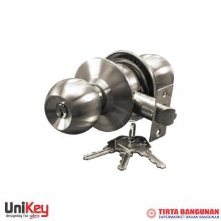 Unikey Bathroom Cylindrical Lock C 219x400 SSS