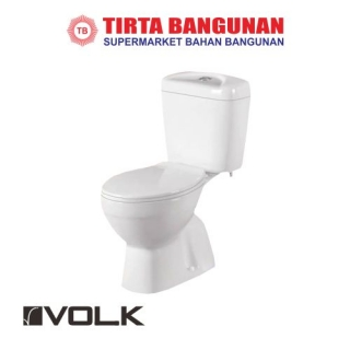 Volk Violet 008 Two Piece Toilet White