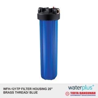 "Waterplus WFH-121TP Filter Housing 20"" Brass Thread/ Blue"